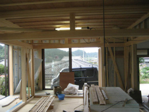 奈良県 注文住宅 室内造作工事・真壁和室造作中