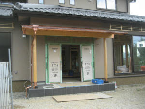 注文住宅 奈良県 純和風 玄関ポーチ