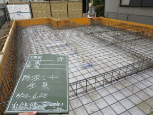 大阪府堺市 防湿ポリエチレンシート施工