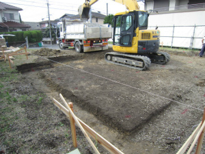 近鉄の注文住宅 奈良県奈良市 基礎着工工事