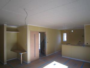 近鉄の注文住宅 外断熱工法エアーウッド 京都府京田辺市 大工工事完了