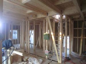 近鉄の注文住宅 外断熱工法エアーウッド 奈良県奈良市 内部造作工事