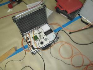 近鉄の注文住宅 外断熱工法エアーウッド 奈良県生駒市 断熱施工が終わったので気密検査です