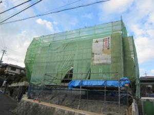 近鉄の注文住宅 収納上手な家 エアーウッドの象徴でもある断熱施工がいよいよ終わりました