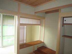 縁側に面した和室 けんどん障子 注文住宅 内装完成