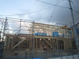 上棟 本格和風住宅 外断熱工法 近鉄 奈良県 エアーウッド