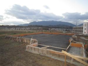 基礎配筋完了 奈良県吉野郡 調剤薬局 店舗 建設工事