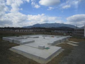 基礎完成 店舗新規建築工事 奈良県 吉野郡