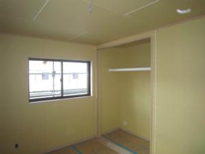2階の洋室 内装工事完了 近鉄 注文住宅