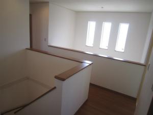 明るい階段ホール 注文住宅 施工例