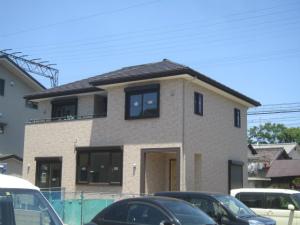 注文住宅 奈良県 外観完成 外断熱工法 エアーウッド