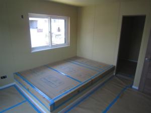 洋室 ㈱収納 大工造作完了 注文住宅 外断熱工法 エアーウッド