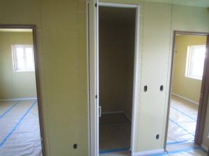 納戸 大工造作完了 注文住宅 奈良県 外断熱工法 エアーウッド