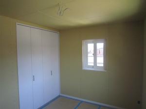 洋室 大工造作完了 注文住宅 外断熱工法 エアーウッド