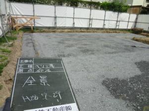 基礎工事 砕石 注文住宅 奈良県