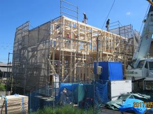 新築 注文住宅 施工途中